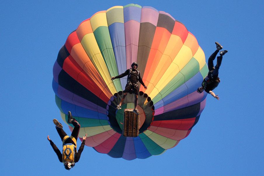 Perris Valley Hot Air Balloon Skydive  Fearless Dream -8479
