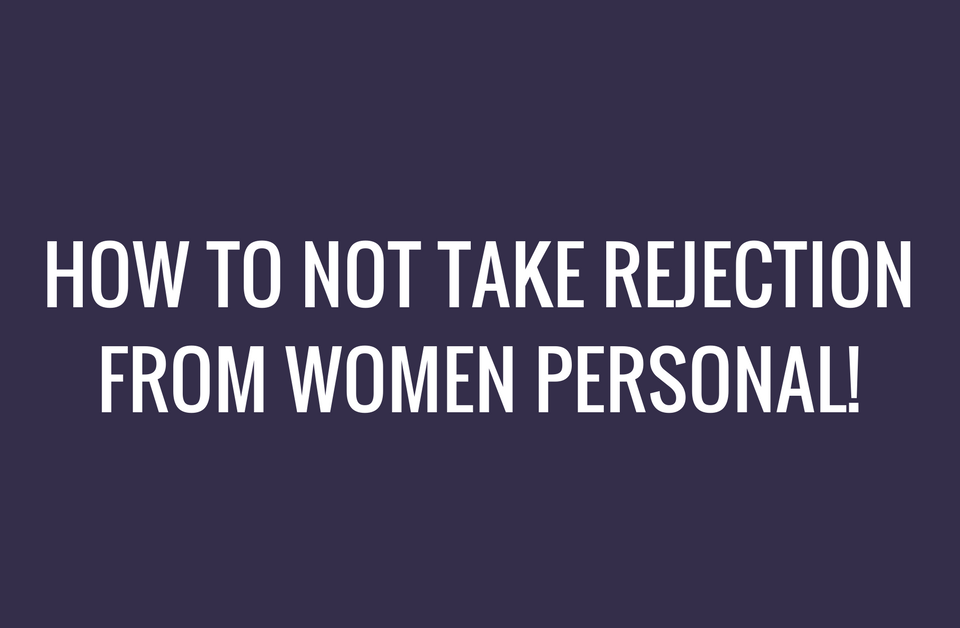 how to not take it personal